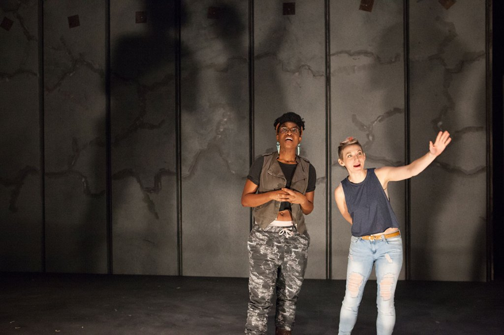 Brett Ashley Robinson and Mary Tuomanen in #THEREVOLUTION. (Photo courtesy of Plate3 Photography/ Kate Raines)