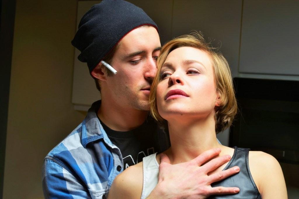 Matteo Scammell and Merci Lyons-Cox star in Theatre Exile's SMOKE (Photo credit: Robert Hakalski)