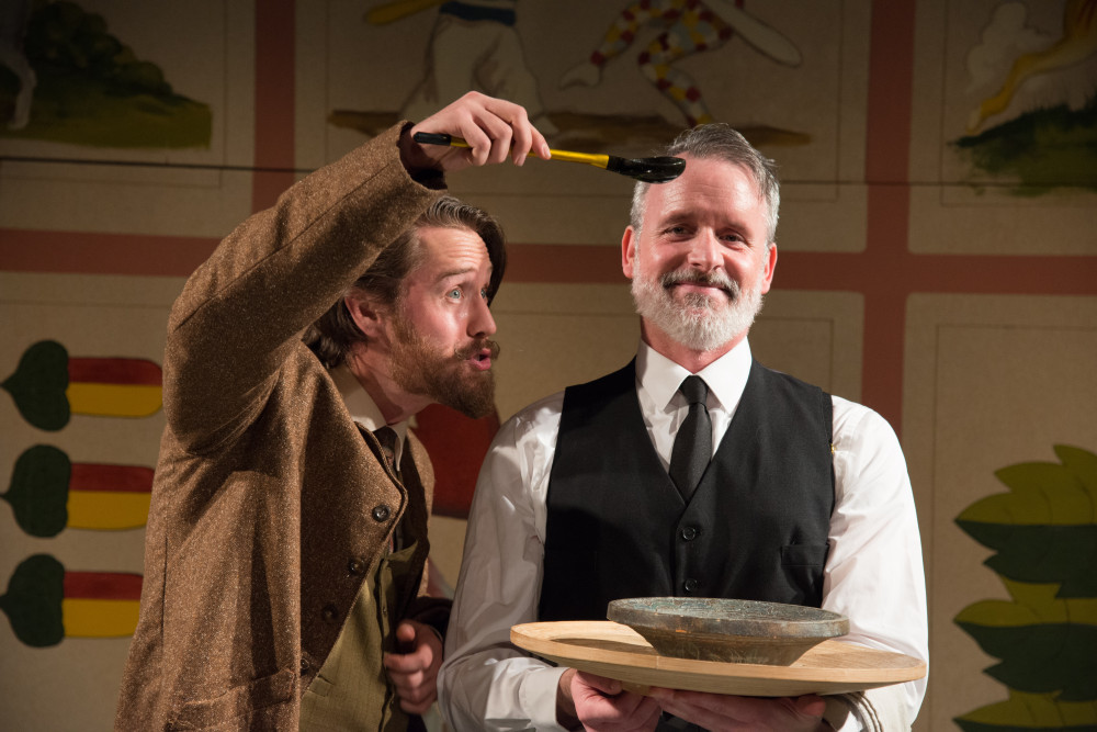 Andrew Carroll and Paul McElwee in IRC's production of THE GOVERNMENT INSPECTOR. Photo credit: Johanna Austin.