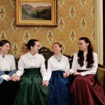 Megan Edelman, Christina Higgins, Molly Edelman, and Allison Kessler in Victorian Theatre's LITTLE WOMEN at the Ebenezer Maxwell Mansion (Photo credit: Rowland Hetrick).