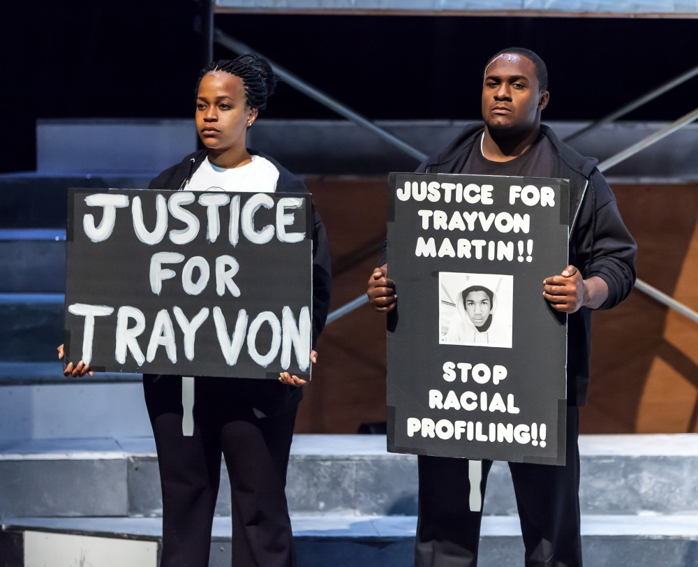 Caption 8: Shabazz Green and Angel Brice in THE BALLAD OF TRAYVON MARTIN at New Freedom Theatre. Photo by ethimofoto.net
