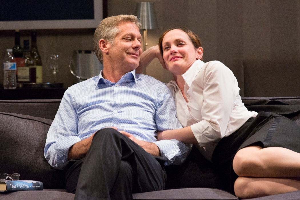 THE HARASSMENT OF IRIS MALLOY at People's Light stars Scott Bryce and Julianna Zinkel (Pboto credit: Mark Garvin)
