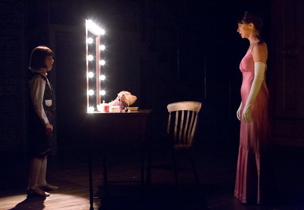 Veronica Nardo (left) and Caroline Dooner in GYPSY at Arden Theatre Company through June 25th.  Photo by Mark Garvin.
