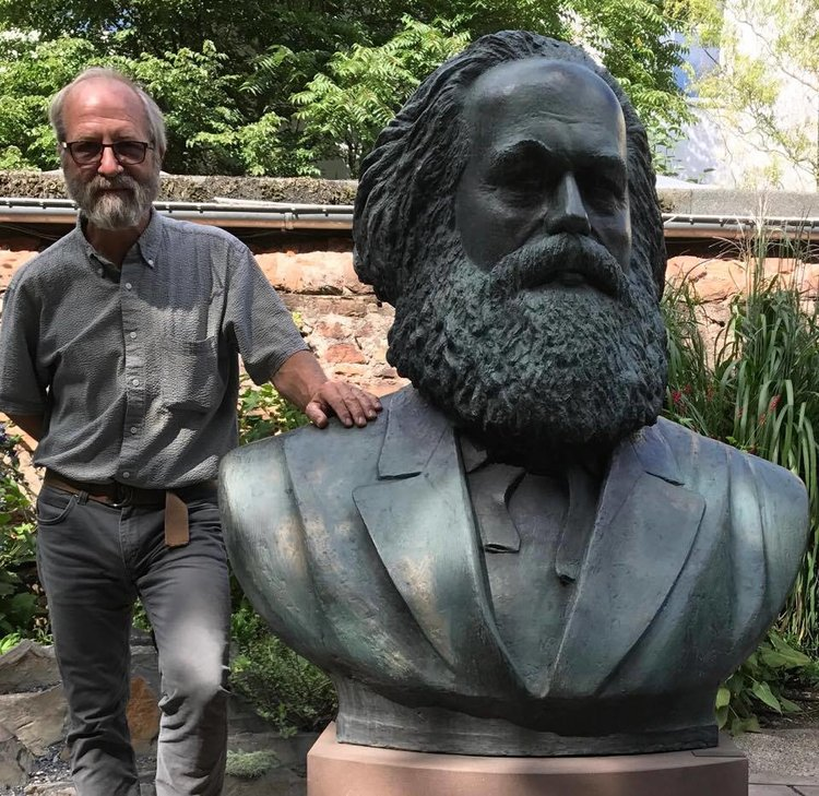 Bob Weick with Marx Bust