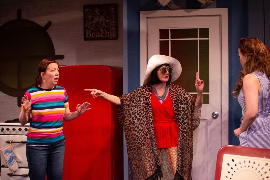 Trudy (Amanda Schoonover) Mrs. Seizmagraff (Tina Brock) and Betty (Kirsten Quinn) Photo by Johanna Austin