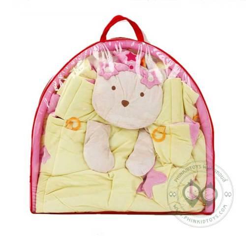 เพลยิมลายหมี สีชมพู