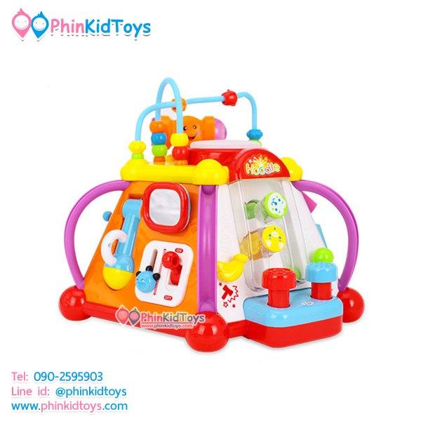กล่องกิจกรรม 6 ด้าน มีเสียง มีไฟ Huile Toy Little Joy Box