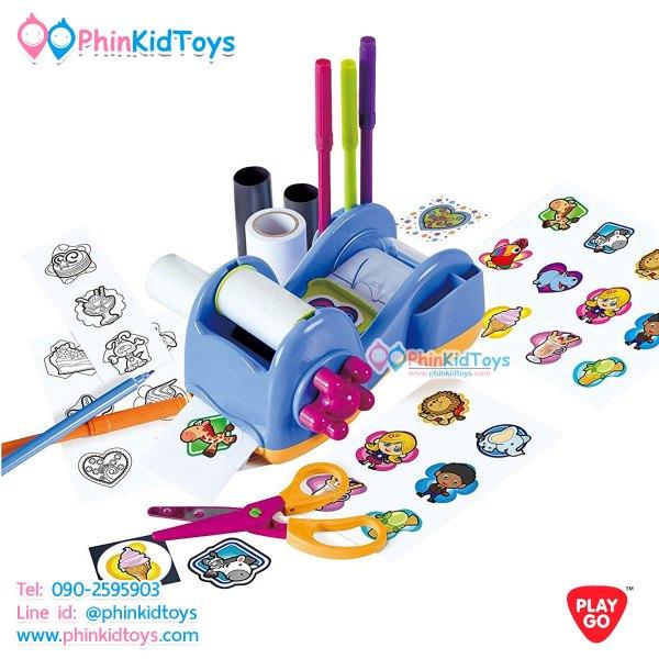 Playgo Sticker Magnets Station ชุดเครื่องประดิษฐ์สติกเกอร์แผ่นแม่เหล็ก สีฟ้า