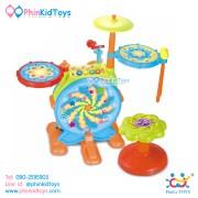 กลองชุดอิเล็คทรอนิคส์สำหรับเด็ก Huile Toys Dynamic Jazz Drum-4