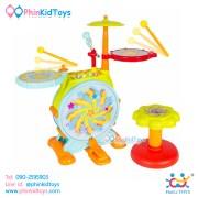 กลองชุดอิเล็คทรอนิคส์สำหรับเด็ก Huile Toys Dynamic Jazz Drum-5