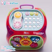 กล่องกิจกรรม 7 ด้าน Educational Toy House Multi function game learning เป่าเปา สีแดง-04