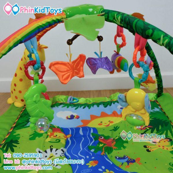 เพลยิมสี่เหลี่ยมลายสัตว์ป่าน้อย Play Gym Rain forest Green Baby's Friends