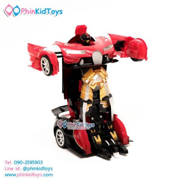 รถบังคับรีโมทแปลงร่างเป็นหุ่นยนต์ ขนาด 1:12 สีแดงดำ