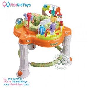 เก้าอี้กิจกรรม รถหัดเดิน Baby Walker Rain Forest jungle walker หมุนได้ 360 องศา-สีส้ม-01