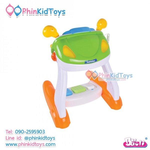 รถหัดขับเด็กชุดใหญ่ Baoli simulation baby driver steering wheel toy