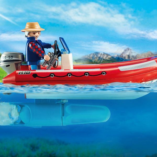 Inflatable Boat with Explorers Figure-04