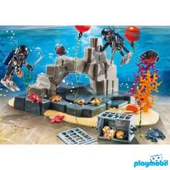 Playmobil 70011 SuperSet Tactical Dive Unit Figure เพลย์โมบิล ซุปเปอร์เซ็ต นักล่าสมบัติใต้น้ำ