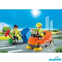 Playmobil 70203 Vehicles Street Sweeper Figure เพลย์โมบิล ยานพาหนะ รถทำความสะอาดถนน