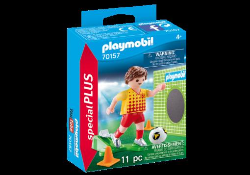 Playmobil 70157 Specials Plus Soccer Player with Goal Figure เพลย์โมบิล สเปเชียล นักบอลยิงโกลด์