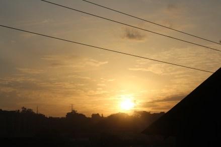 A sunrise, taken from Bukoto