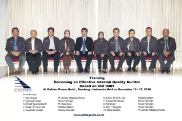 Training Internal ISO 9001 Auditor - Pelatihan Internal Quality Audit