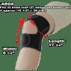 Phiten Titanium Knee Wrap Large