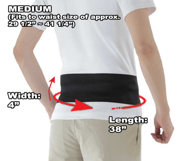 Phiten Lightweight Titanium Waist Belt Medium