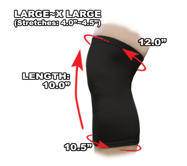 Phiten Titanium Knee Support L to XL