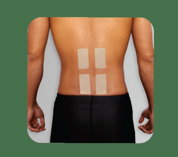 X30 Phiten Titanium Power Tape Precut Lower Back