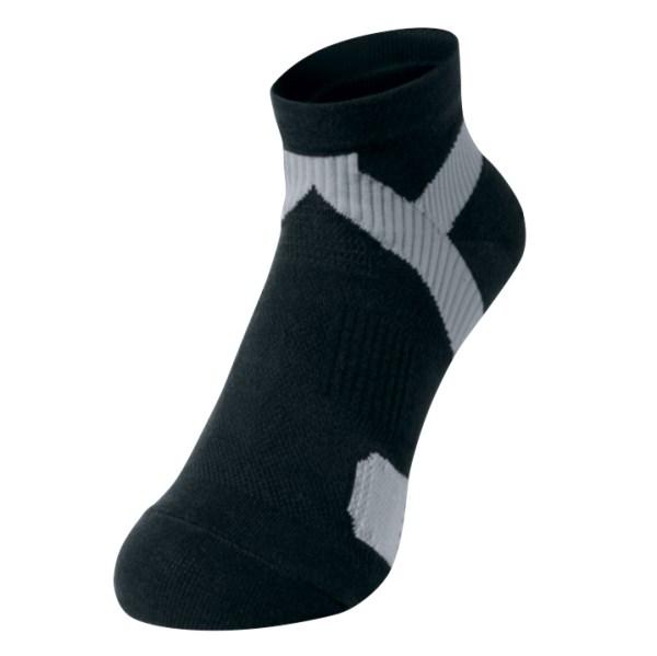 Sock King Black Gray round toe