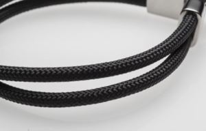 X100 Titanium Bracelet Carbon rope is durable with 66 Nylon