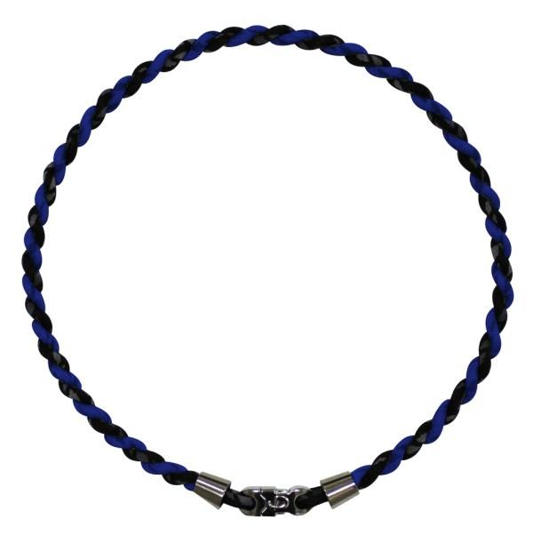Aqua Titanium double strand necklace