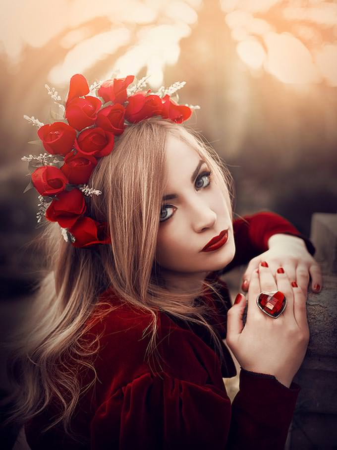 The Lady in Red by Rebeca Saray