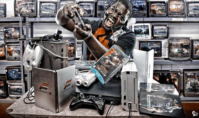 Multitasking Hardcore Gamer by Harts Ortiz