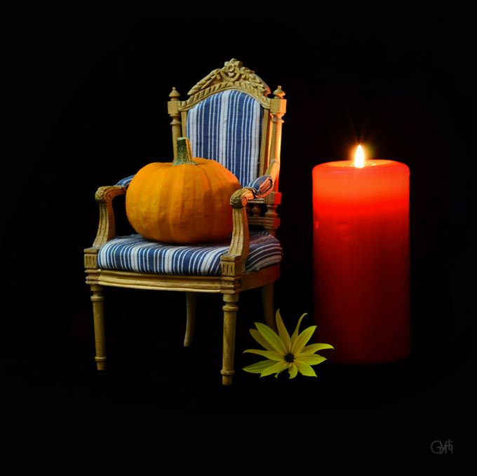 Pumpkin on a Chair by Gynt S