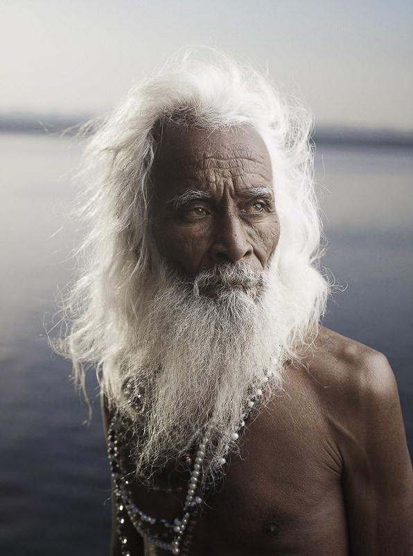 Holy Men of Varanasi, India by Joey L