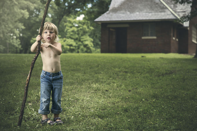 Ad with Stick by Bradford Clecko Photography