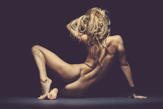 Nude in the Spotlight by Thomas Agatz