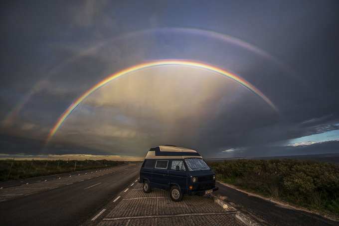 Rainbow over Surfmobil by CUMBUGO