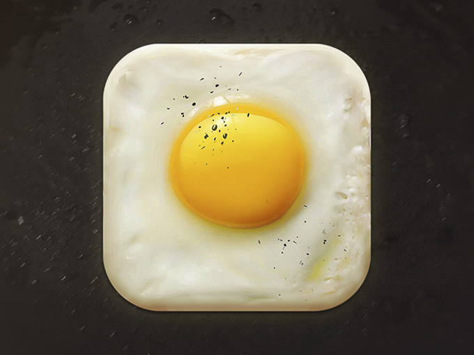 Fried Egg Icon by CreativeDash Design Studio
