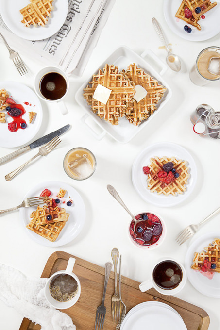 FOOD Coffee Waffles by Leslie Grow