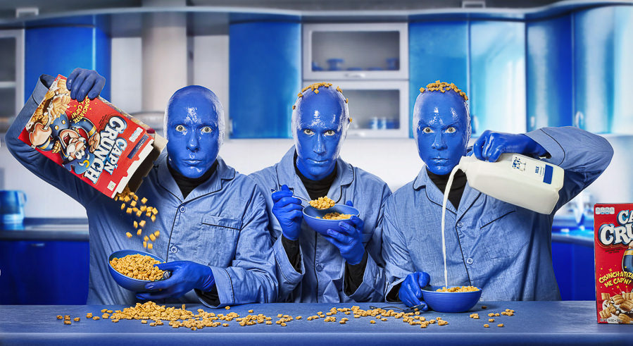 Celebrities 1 blue man group by Mike Campau