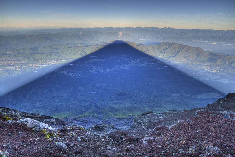 Perfect Shadow of Mt.Fuji at Sunrise by Kris J B