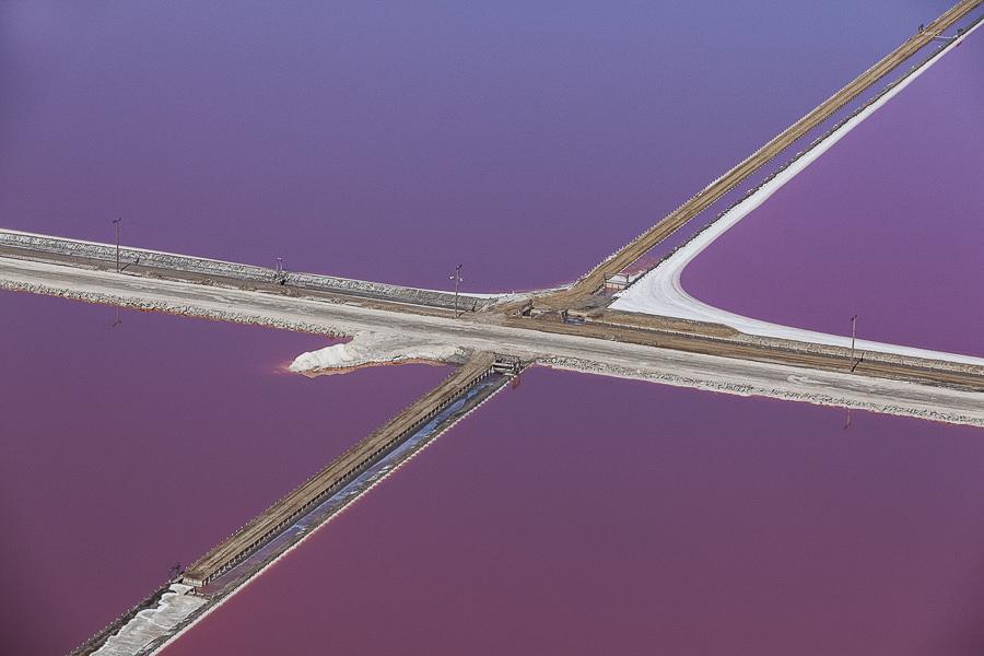 Purple Views of the San Francisco Bay Salt Ponds by Julieanne Kost