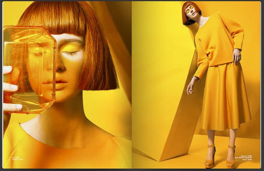 Set Design of The Color Moral for Philosophy Magazine by Szurdi Linda