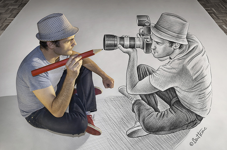 Pencil vs Camera 73 by Ben Heine