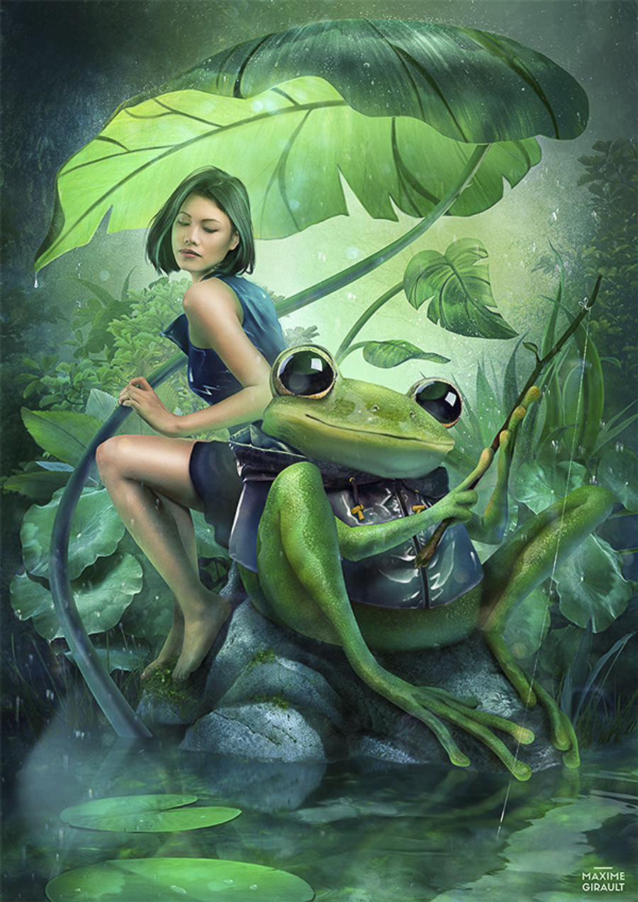 Fishing with Frog by Maxime Girault