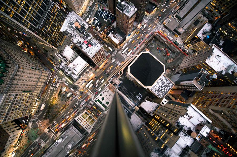 Intersection NYC Night by Navid Baraty