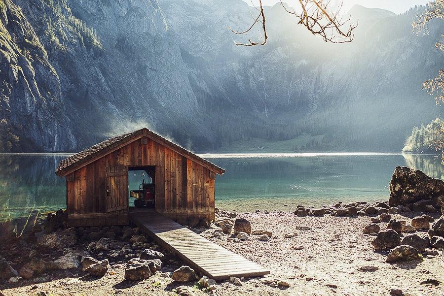 Lake in Mountains by Oleh Slobodeniuk