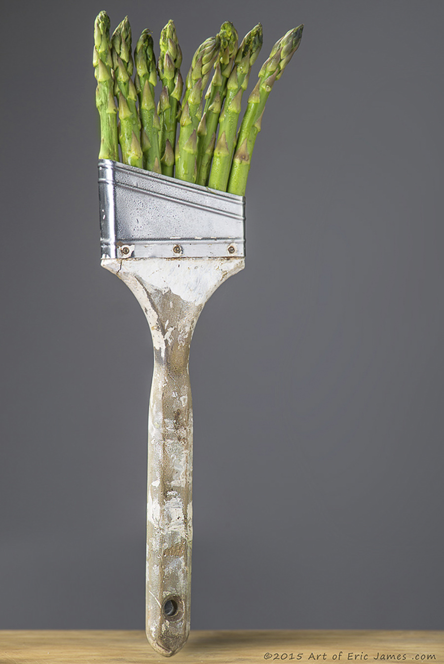 Food Photography Asparagus brush paints the colors of Spring. by Eric James Swearingen